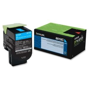 80C1XC0 Toner Cartridge - Lexmark Genuine OEM (Cyan)