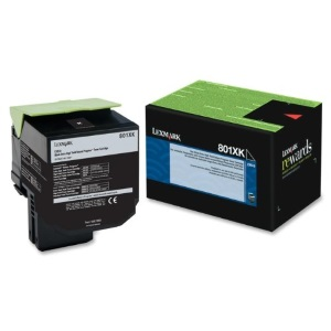 80C1XK0 Toner Cartridge - Lexmark Genuine OEM (Black)