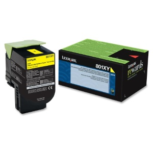 80C1XY0 Toner Cartridge - Lexmark Genuine OEM (Yellow)