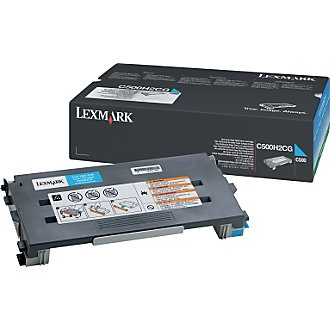 C500H2CG Toner Cartridge - Lexmark Genuine OEM (Cyan)