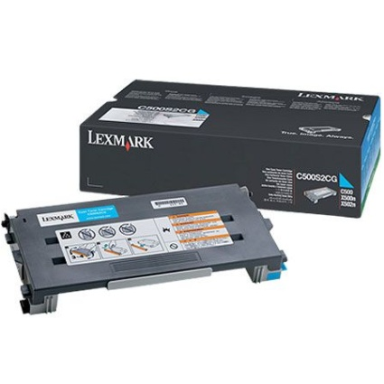 C500S2CG Toner Cartridge - Lexmark Genuine OEM (Cyan)