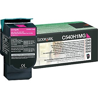 C540H1MG Toner Cartridge - Lexmark Genuine OEM (Magenta)