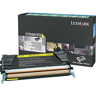 C734A1YG Toner Cartridge - Lexmark Genuine OEM (Yellow)
