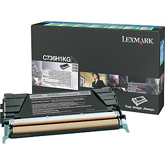 C736H1KG Toner Cartridge - Lexmark Genuine OEM (Black)
