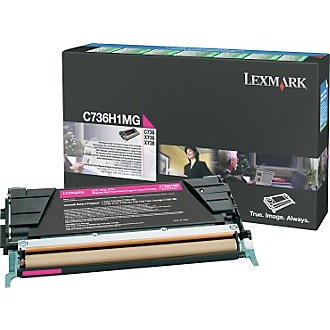 C736H1MG Toner Cartridge - Lexmark Genuine OEM (Magenta)