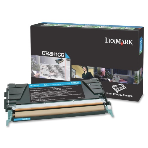 C748H1CG Toner Cartridge - Lexmark Genuine OEM (Cyan)