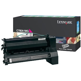 C780A1MG Toner Cartridge - Lexmark Genuine OEM (Magenta)