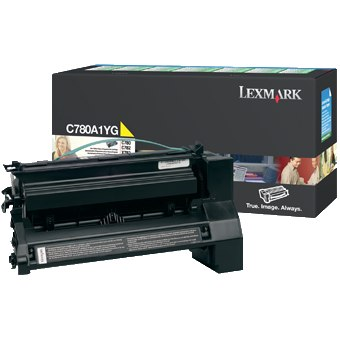 C780A1YG Toner Cartridge - Lexmark Genuine OEM (Yellow)
