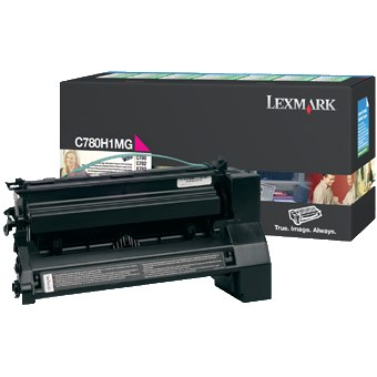C780H1MG Toner Cartridge - Lexmark Genuine OEM (Magenta)