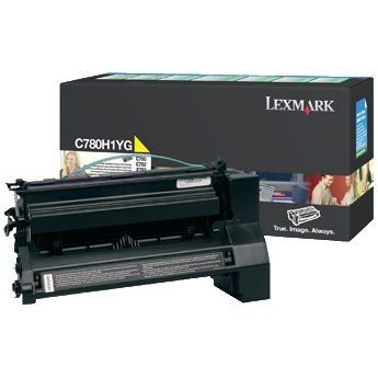 C780H1YG Toner Cartridge - Lexmark Genuine OEM (Yellow)