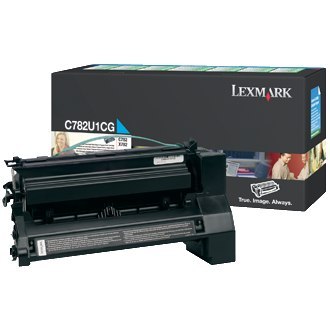 C782U1CG Toner Cartridge - Lexmark Genuine OEM (Cyan)
