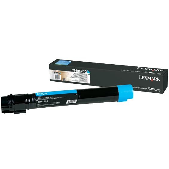 C950X2CG Toner Cartridge - Lexmark Genuine OEM (Cyan)
