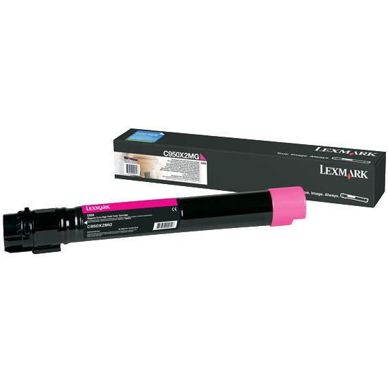 C950X2MG Toner Cartridge - Lexmark Genuine OEM (Magenta)