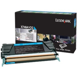 X746A1CG Toner Cartridge - Lexmark Genuine OEM (Cyan)