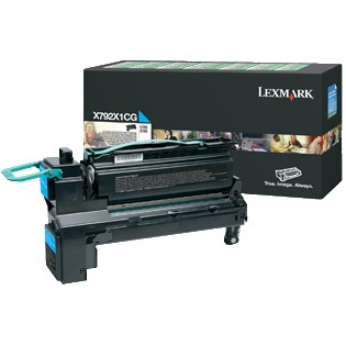 X792X1CG Toner Cartridge - Lexmark Genuine OEM (Cyan)