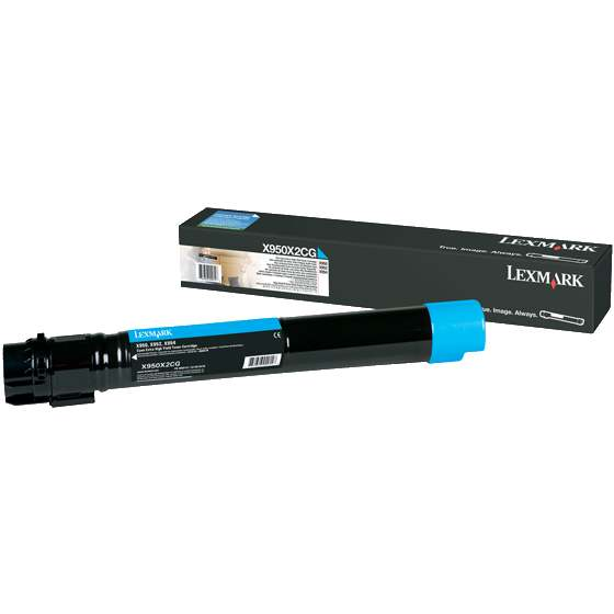 X950X2CG Toner Cartridge - Lexmark Genuine OEM (Cyan)