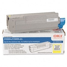 43381901 Toner Cartridge - Okidata Genuine OEM (Yellow)