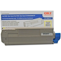 43865717 Toner Cartridge - Okidata Genuine OEM (Yellow)