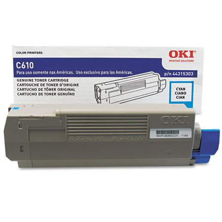 44315303 Toner Cartridge - Okidata Genuine OEM (Cyan)