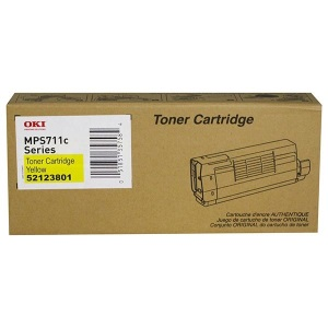 52123801 Toner Cartridge - Okidata Genuine OEM (Yellow)