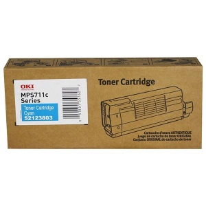 52123803 Toner Cartridge - Okidata Genuine OEM (Cyan)