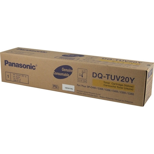 DQ-TUV20Y Toner Cartridge - Panasonic Genuine OEM (Yellow)