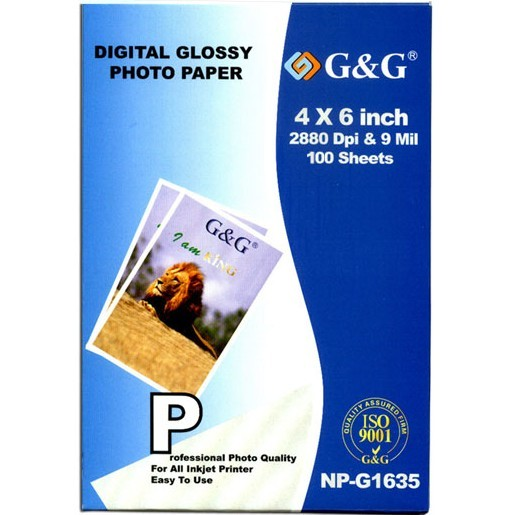 4X6 Photo Paper / 100 sheets Photo Paper - Generic New Compatible