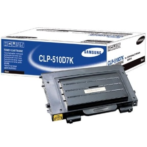 CLP-510D7K Toner Cartridge - Samsung Genuine OEM  (Black)