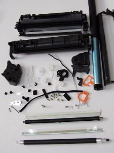 disassembled cartridge