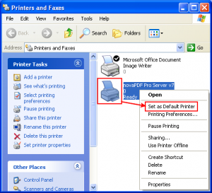 Set Xerox Printer as Default