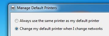 Default printers