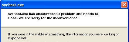 Svchost.exe Error Message