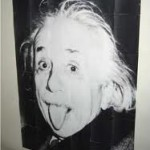 Tiled print Einstein