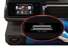 Memory Card Slot on Printer