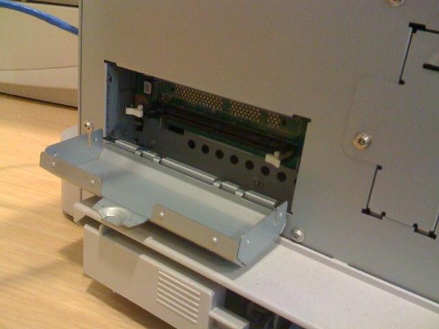 Printer memory slots