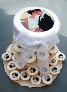Edible Ink Wedding Cake