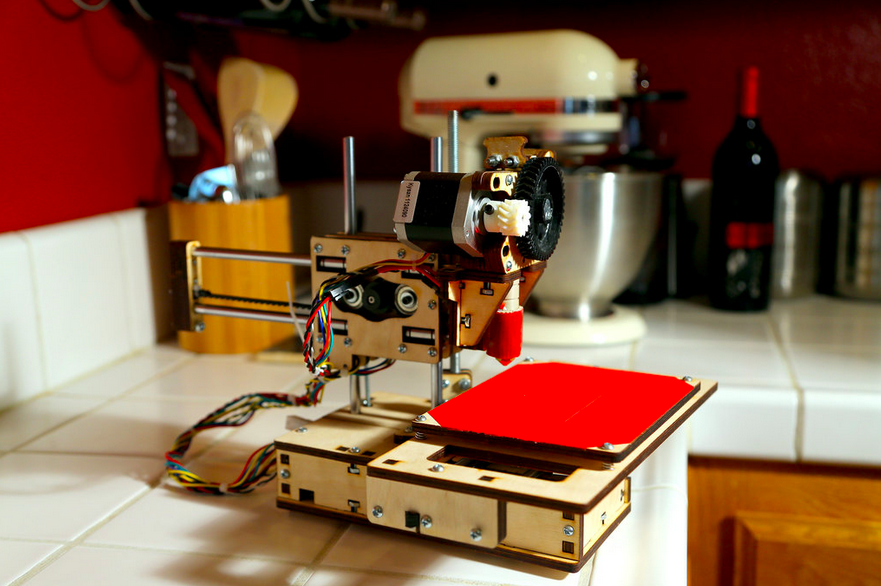 The Printrbot on its Founder's kitchen counter. Jim Wilson/The New York Times