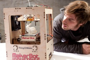 A 3D printer from MakerBot Industries