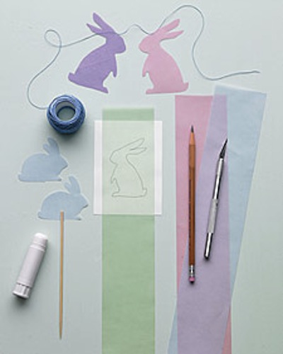 bunny garland cutouts