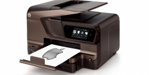 Apple Logo printed from HP Printer