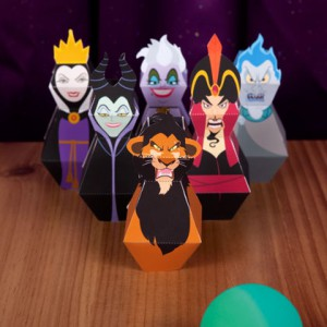Disney Villains Bowling Pins Printable Game