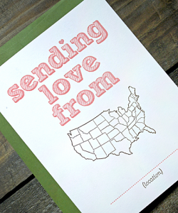 Letterpress Valentines Day Card