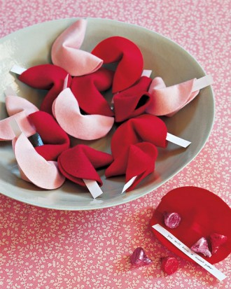 Valentines Day Felt Fortune Cookies