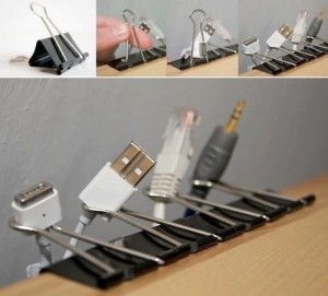Binder clips for cords