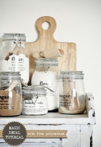 Kitchen Jar Labels