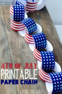 Printable paper chain