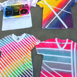 Tie-Dying Shirts!