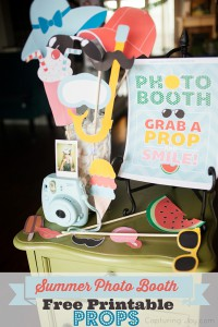 Printable crafts for a photo booth