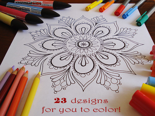 Printable Mandala Color Pages