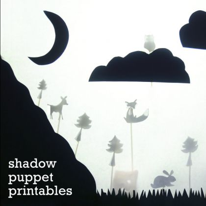 Printable Shadow Theater Puppets
